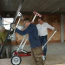 Schneller Einsatz von Bauelementen Mithilfe des Glasmontagegerät UPT 250